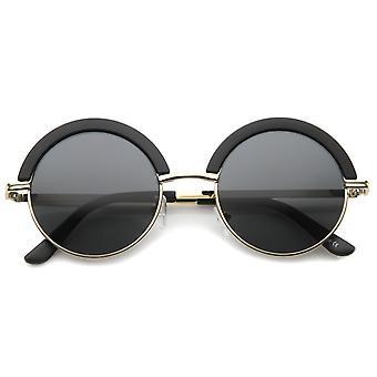 Mod muoti ylikoko puolikinokamera otsa silmäluomen pyöreä aurinkolasit 50mm