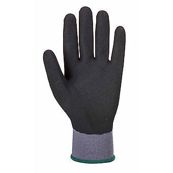 Portwest - DermiFlex Ultra Pro Grip handske (12 Pair Pack) grå/svart X-Large