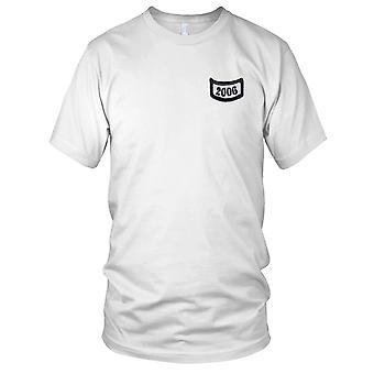 2006 rocker nederst under fanen broderet Patch - Herre T-shirt