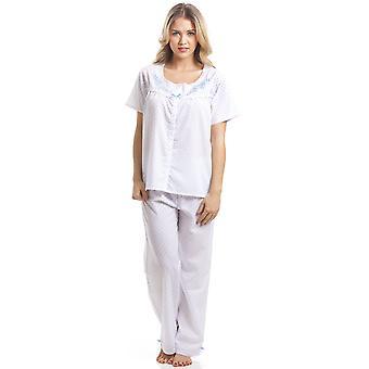 Camille Classic Blu Dot manica corta bianco pigiama Set