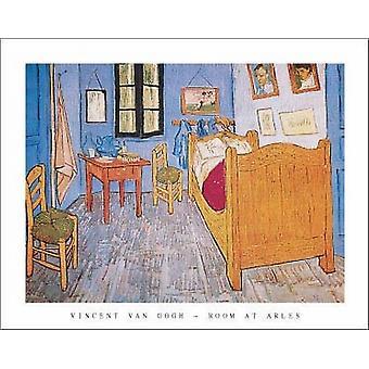 חדר שינה ב-ארלס פוסטר הדפס על ידי וינסנט ואן גוך (28 x 22)