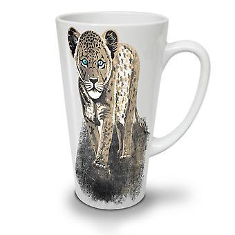 Luipaard beest cute nieuwe witte thee koffie keramische Latte Mok 12 Oz | Wellcoda