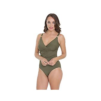 Seaspray SY006403A Women's Olive Green Solid Colour Costume One Piece Swimsuit