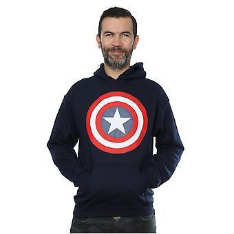 Émerveillez-vous Hoodie de bouclier Captain America des hommes