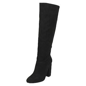 Signore Anne Michelle blocco grosso tacco stivali alti al ginocchio F50651