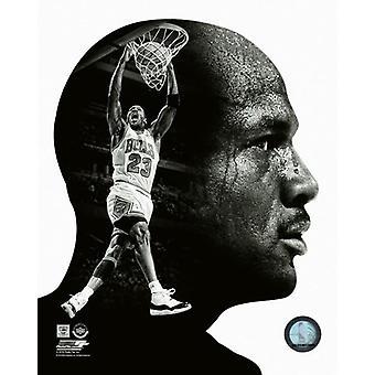 Michael Jordan PROfile Photo Print