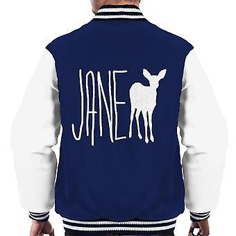 Jane Doe Text Men's Varsity Jacket
