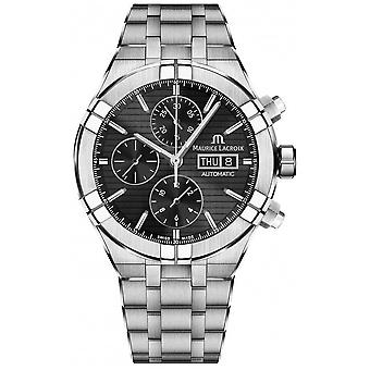 Maurice Lacroix mä Automaattinen Chronograph Stainless Steel Black Dial AI6038-SS002-330-1 Watch