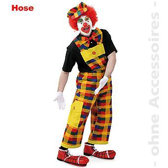 Clown drakt Karohose farget Clownhose bib & klammeparentes unisex