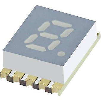 Kingbright Seven-segment display Yellow 5.08 mm 1.95 V No. of digits: 1 KCSC 02-107