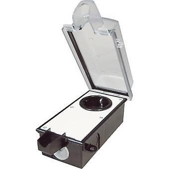 interBär 9015-002.81 Surface-mount socket Lockable Black, Transparent