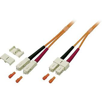 EFB Elektronik Fibreglass FO Cable [1x SC plug - 1x SC plug] 50/125 µ Multimode OM2 5.00 m