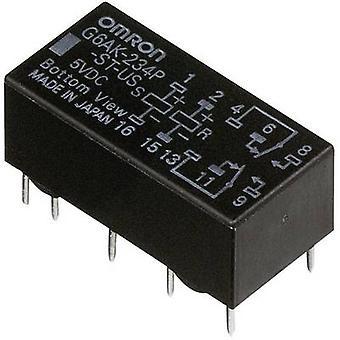 Omron G6AK-274P-ST-US 12 VDC PCB revezamento 12 V DC 2 A 2 change-overs 1 pc (s)