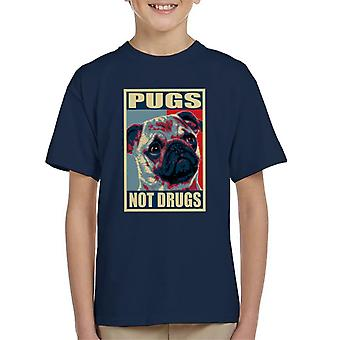 Pugs Not Drugs Kid's T-Shirt