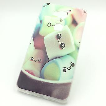 Mobile Shell for Huawei honor 5 X skumfiduser taske case cover + 1 x tank beskyttelse glas