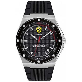 Scuderia Ferrari Mens Aspire Watch Strap Data Display 0830529 de borracha preta