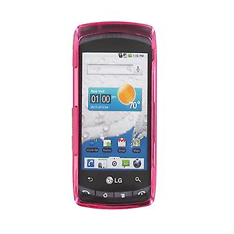 Verizon LG Ally VS740 Snap-On Cover Case - Translucent Pink (Bulk Packaging)