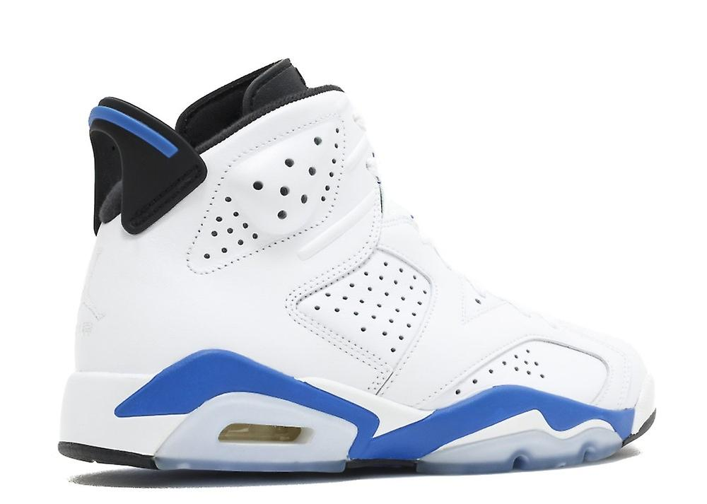 Air Jordan 6 Retro 'idrett Blå' - 384664-107-sko