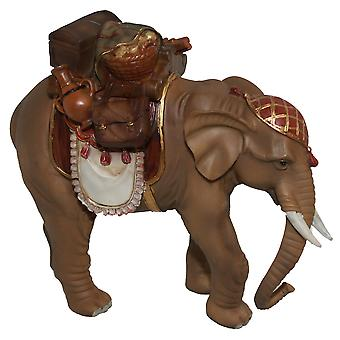 Elephant with saddle and luggage 15 cm for Nativity stable Nativity accessories