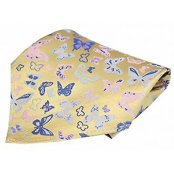 Posh and Dandy Butterflies Pocket Square - Yellow