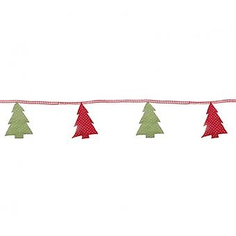 Sasse & Belle Fabric Christmas Tree Bunting Decoration