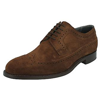Mens Barker Formal Suede Brogue Shoes Woodbridge