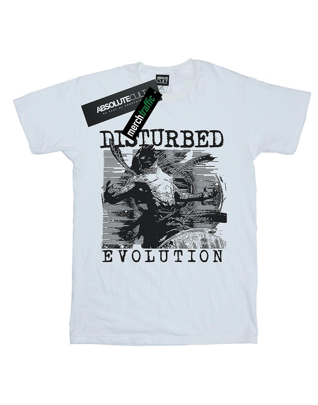 Disturbed Women's Mono Sketch Boyfriend Fit T-Shirt