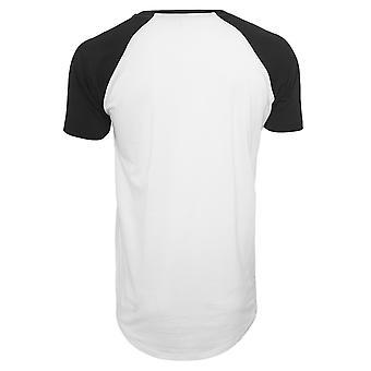 Mens classici urbano a forma lunga Raglan Tee t-shirt