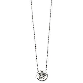 Beginnings Pave Star Necklace - Silver