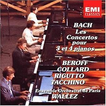 J.S. Bach - Bach: Importação EUA Les Concertos Pour 3 Et 4 Pianos [CD]
