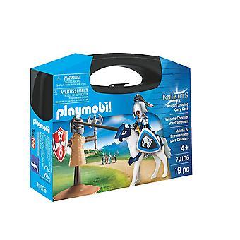 Playmobil cavaleiros 70106 coleccionável justas carreg a caixa