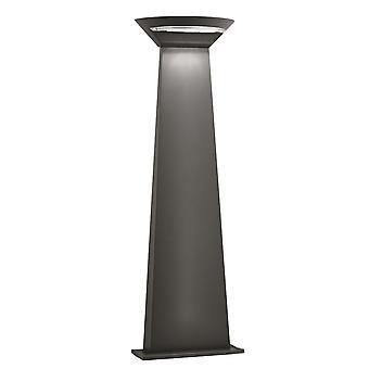 Mørk grå Aluminium Crescent LED stolpe Light - søkelys 5122-800GY
