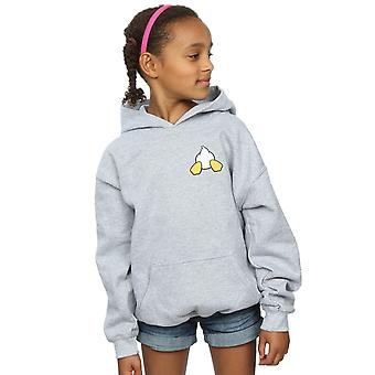 Disney filles Donald Duck Backside poitrine impression Hoodie