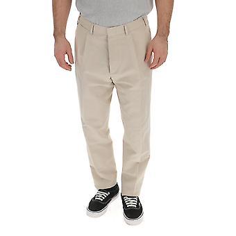 The Gigi Tongazk225200 Men's Beige Cotton Pants