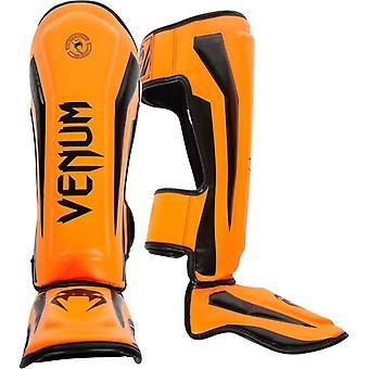 Venum Elite Standup MMA Shinguards with Instep - Neo Orange