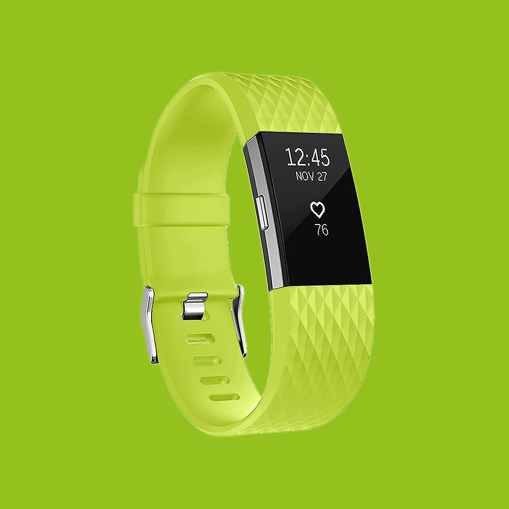 Pour le plastique lot 2 Fitbit / bracelet en silicone pour hommes / size L Green Watch