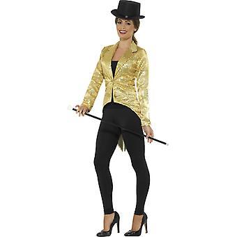 سهرة كلاسيك فستان معطف للذهب للمرأة
