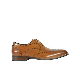 Azor Schuhe Venezia Brogue-Tan