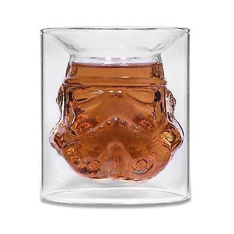 Vidrio Stormtrooper 3D de vidrio, envoltura de regalo, llenado 150 ml..