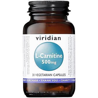 Viridian L-كارنيتين 500mg خضار قبعات 30 (015)