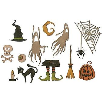 Sizzix Thinlits Die Set Frightful Things Set of 17 par Tim Holtz