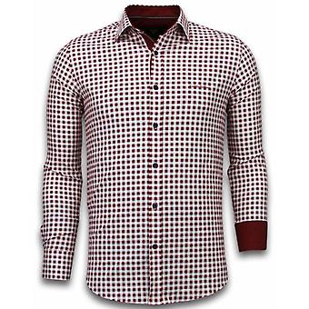 E Shirts - Slim Fit - Garment Pattern - Red