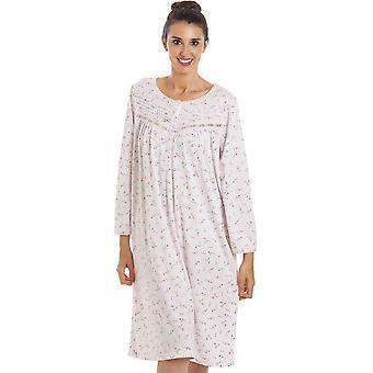 Camille Womens Classic Jersey langærmet natkjole