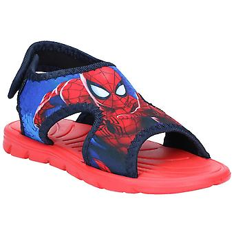 Leomil Kids Spiderman Classic Sandals touch fastening shoe Light Blue/Navy