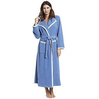 Féraud 3883157-11998 Women's Smokey Blue Robe Loungewear Bath Dressing Gown