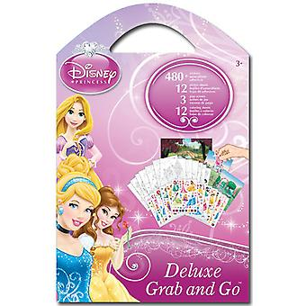Grab & Go Deluxe Stickers - Disney - Princess New Decals Toys Games st2700