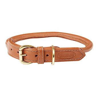 Weatherbeeta gerold lederen Dog Collar-Tan