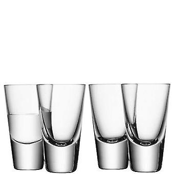Lsa Bar 100ml glass of vodka Clear x 4 (Kitchen , Household , Cups and glasses)