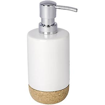 Wenko Ceramic Soap Dispenser Corc, white