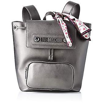 Liefde Moschino tas natuurlijke graan PU rugzak vrouwen grijs (Fucile) 28x13x26 cm (b x H x L)